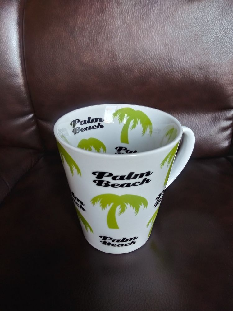 Palm Beach Coffee Mug Palm Trees Everywhere Pattern 10 Oz Tea Cup Unbranded Tea Cups Mugs Coffee Mugs