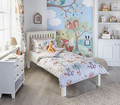 Woodland Animal Design Duvet Set & Curtains Cot Bed Single Double Captivating Bedroom Cot Designs Photos Design Inspiration