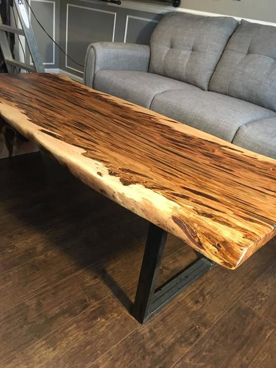 Tremendous Coffee Table Waterfall Table Natural Edge Maple Coffee Bralicious Painted Fabric Chair Ideas Braliciousco