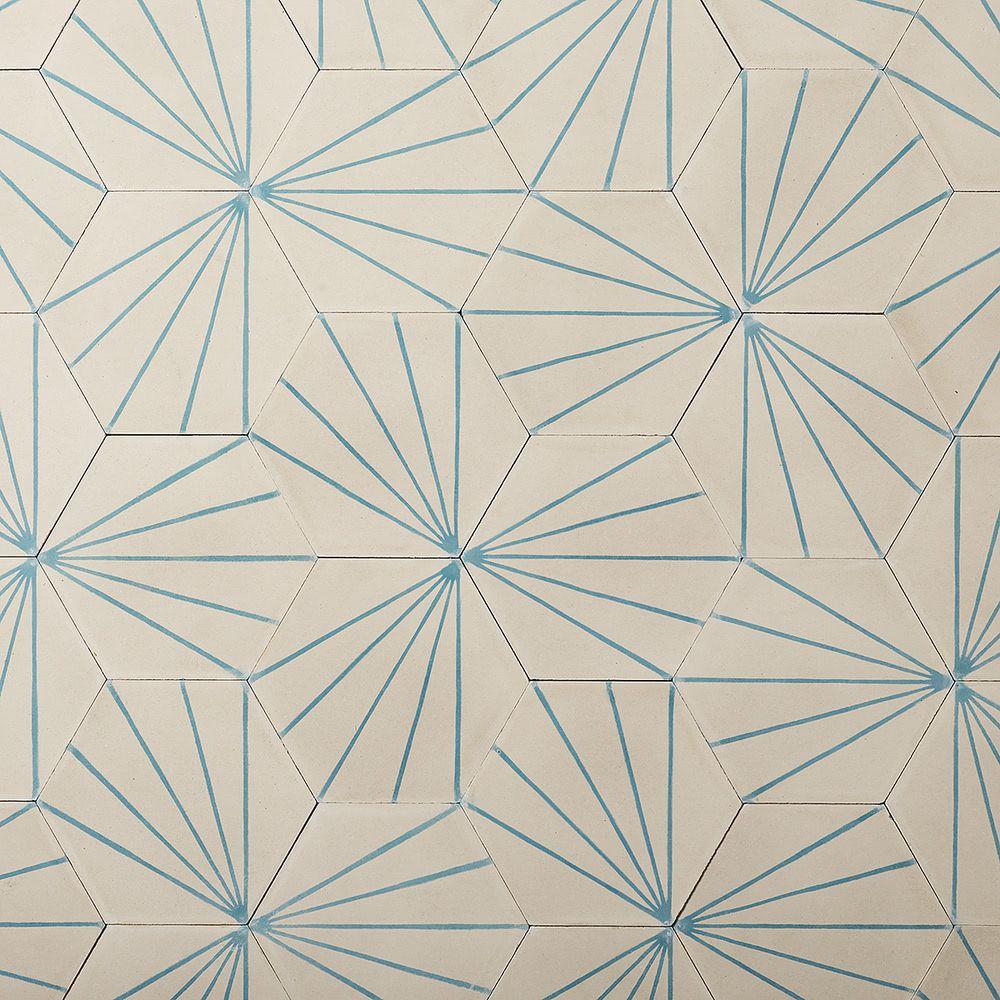 Slideshow Références Dandelion milk/azure Carrelage ciment