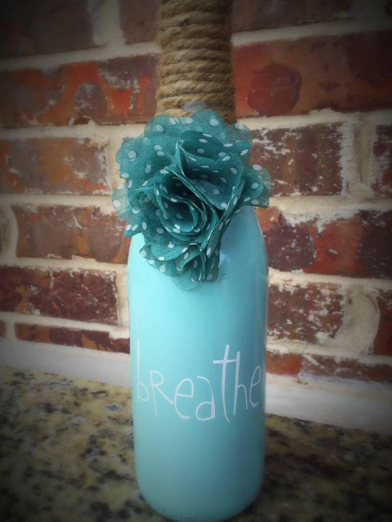 Valspar Turquoise Spray Paint Easy Bottle Craft Using Valspar Milk Glass Spray Paint