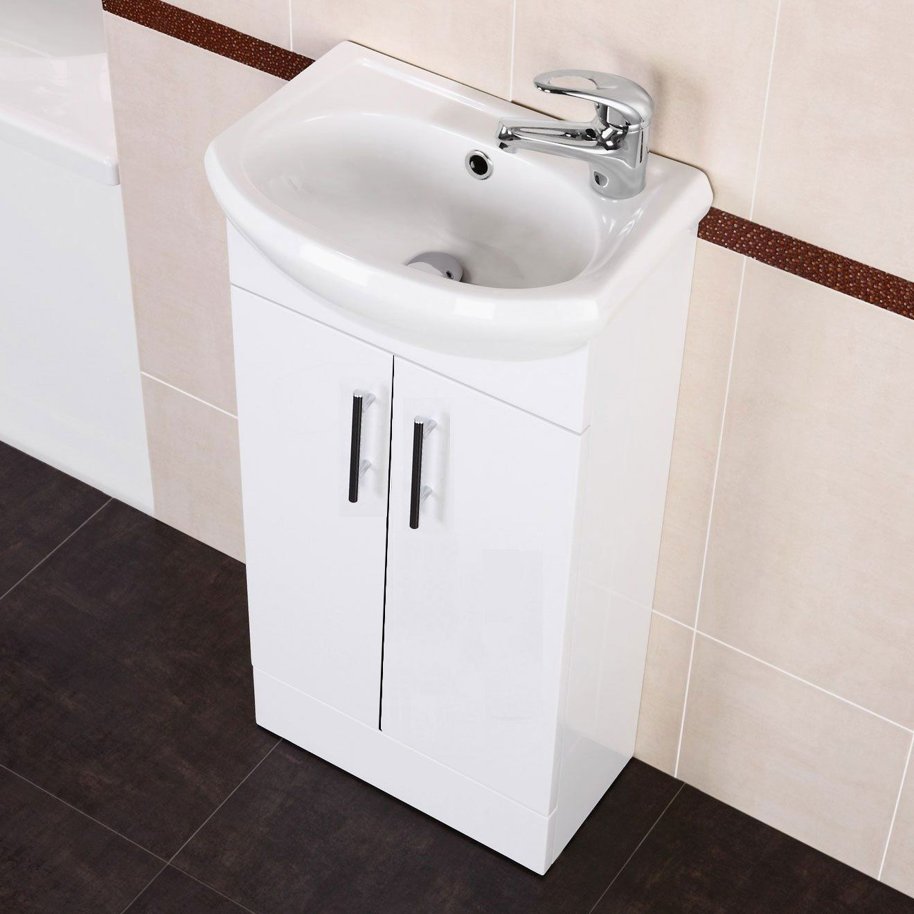 small vanity sink unit. White Small Compact Basin Vanity Unit Bathroom Cloakroom Furniture Ceramic  400 Amazon Co Uk Kitchen Home Pinterest