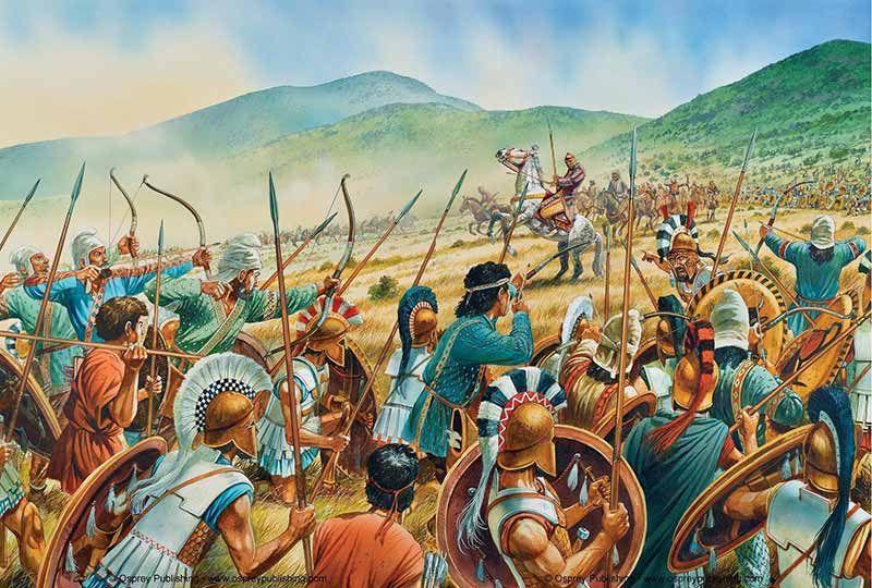 Мир сражений в древности, черные члены в анале
