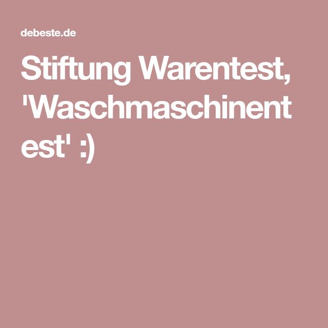 Stiftung Warentest, 'Waschmaschinentest' ) Wäsche