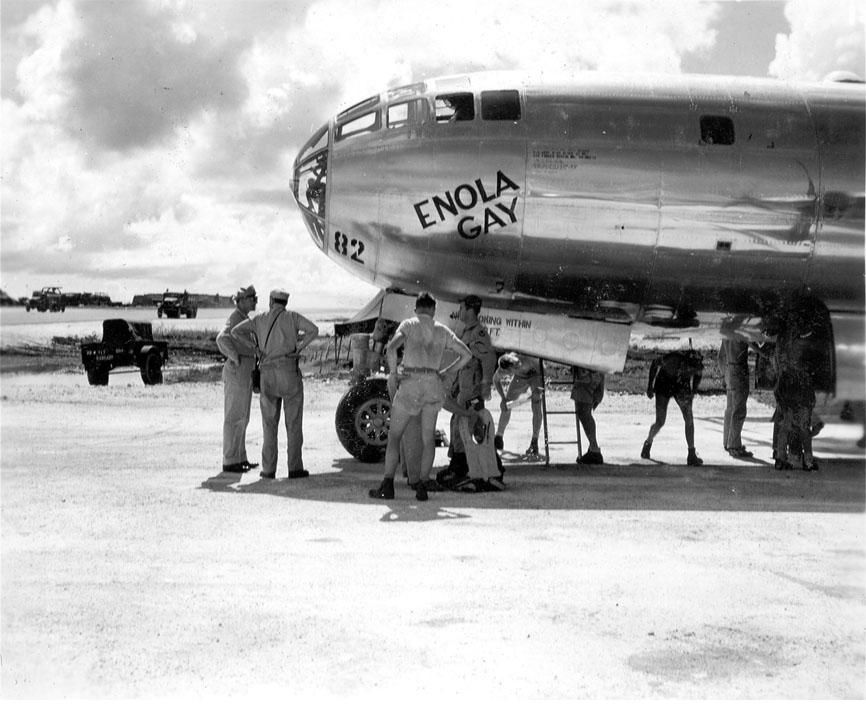 from Ayden ground crew airplane mechanics enola gay