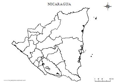 Mapas De Nicaragua Para Colorear Nicaragua Map World Map