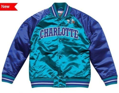 aad549714 Authentic-amp-Mitchell-amp-Ness-CHARLOTTE-HORNETS-NBA-Tough-Seasons-Satin- Jacket