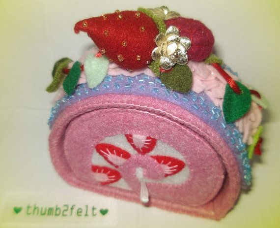 Free Shipping WorldWide/Felt jewellery/trinket by thumb2felt, $60.00