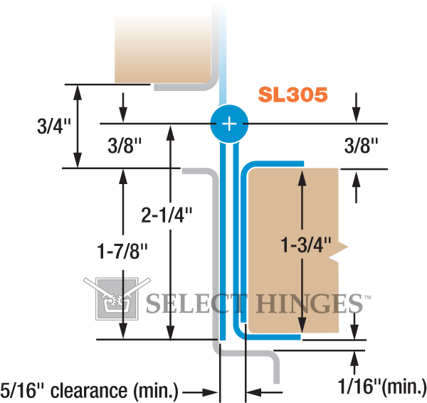 Select Hinges Sl305 95 Inch Pin Barrel Concealed Continuous Hinges Stainless Steel Continuous Hinges Commercial Door Hardware Hinges