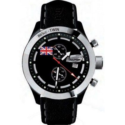 time to ride! triumph style: triumph bonneville chronograph watch