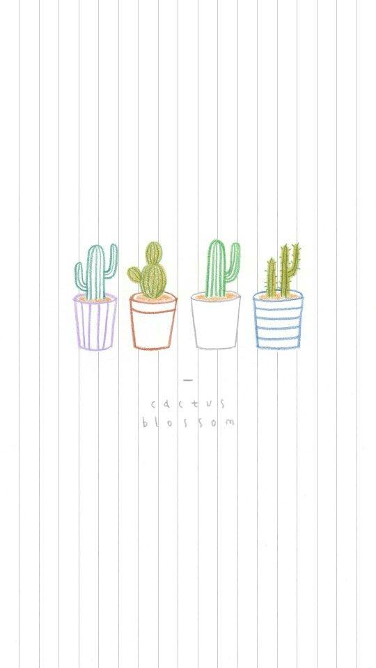 Cactus New Tattoo Screen Wallpaper Cactus Backgrounds Iphone