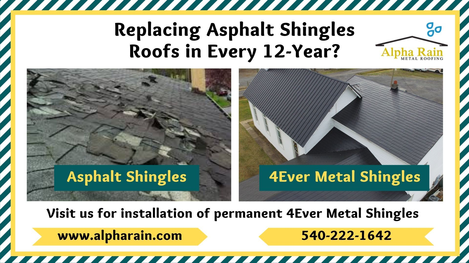 4ever Metal Shingle Varies From Other Shingles In 2020 Metal Shingles Shingling Asphalt Roof Shingles