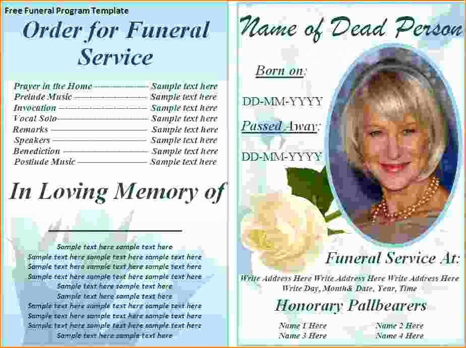Memorial Card Templates Free Download New 73 Best Printable Funeral Program Templates I Funeral Program Template Funeral Program Template Free Funeral Programs