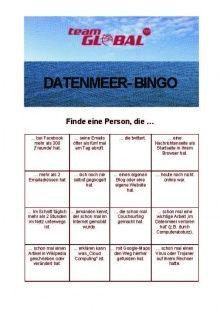 Datenmeer Bingo Bingo Kennenlernen Und Netzwerk