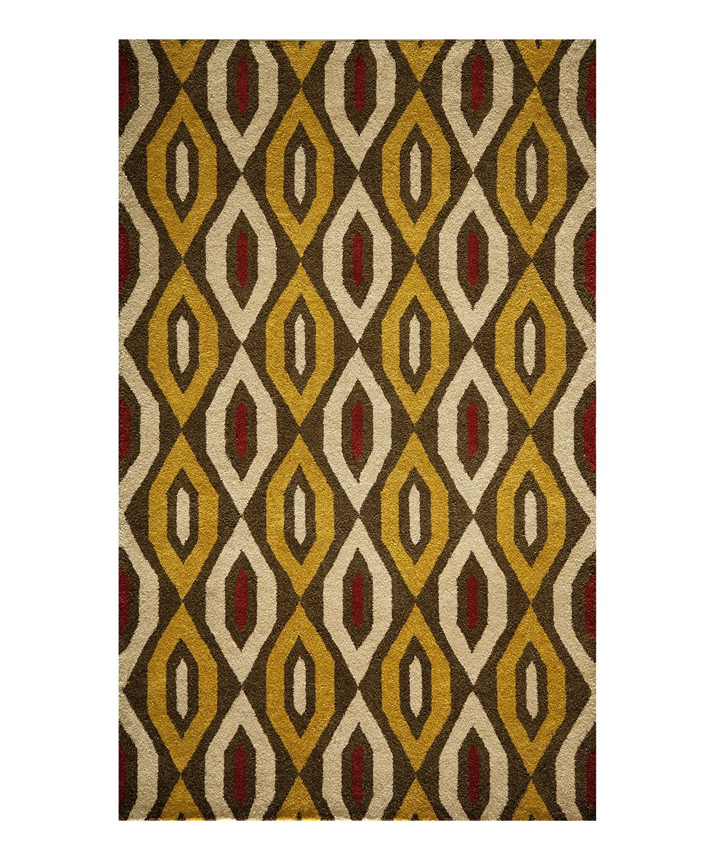Yellow Red Shape Stockton Wool Rug Products Pinterest