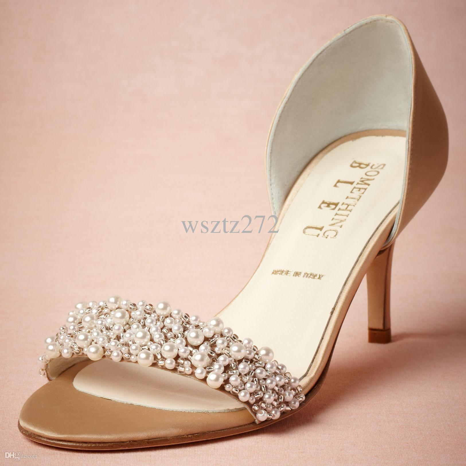 Basso Scarpe Da Sposa Pompe Sandali Di Cuoio Fibbia Oro Chiusura Glitter Dance Party