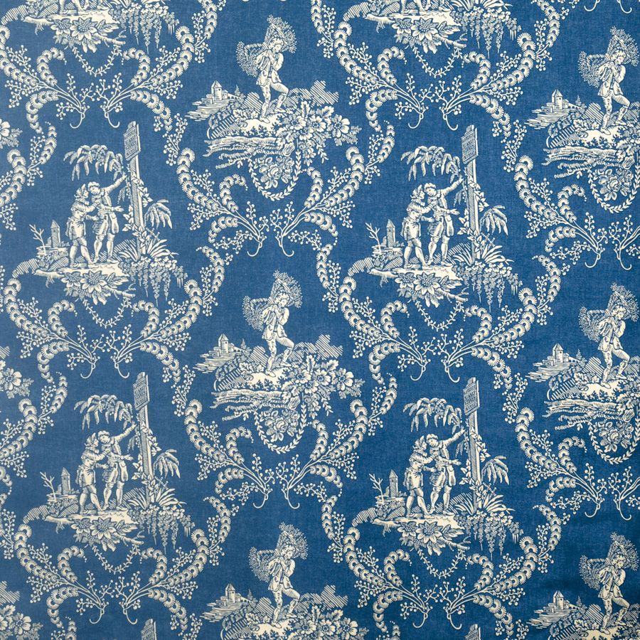 vervain hamlets blue toile charles faudree fabric and wallpaper toile fabric fabric decor. Black Bedroom Furniture Sets. Home Design Ideas
