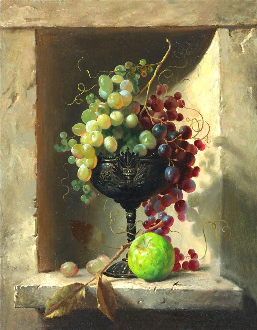 Надписью, открытки фрукты на вазе