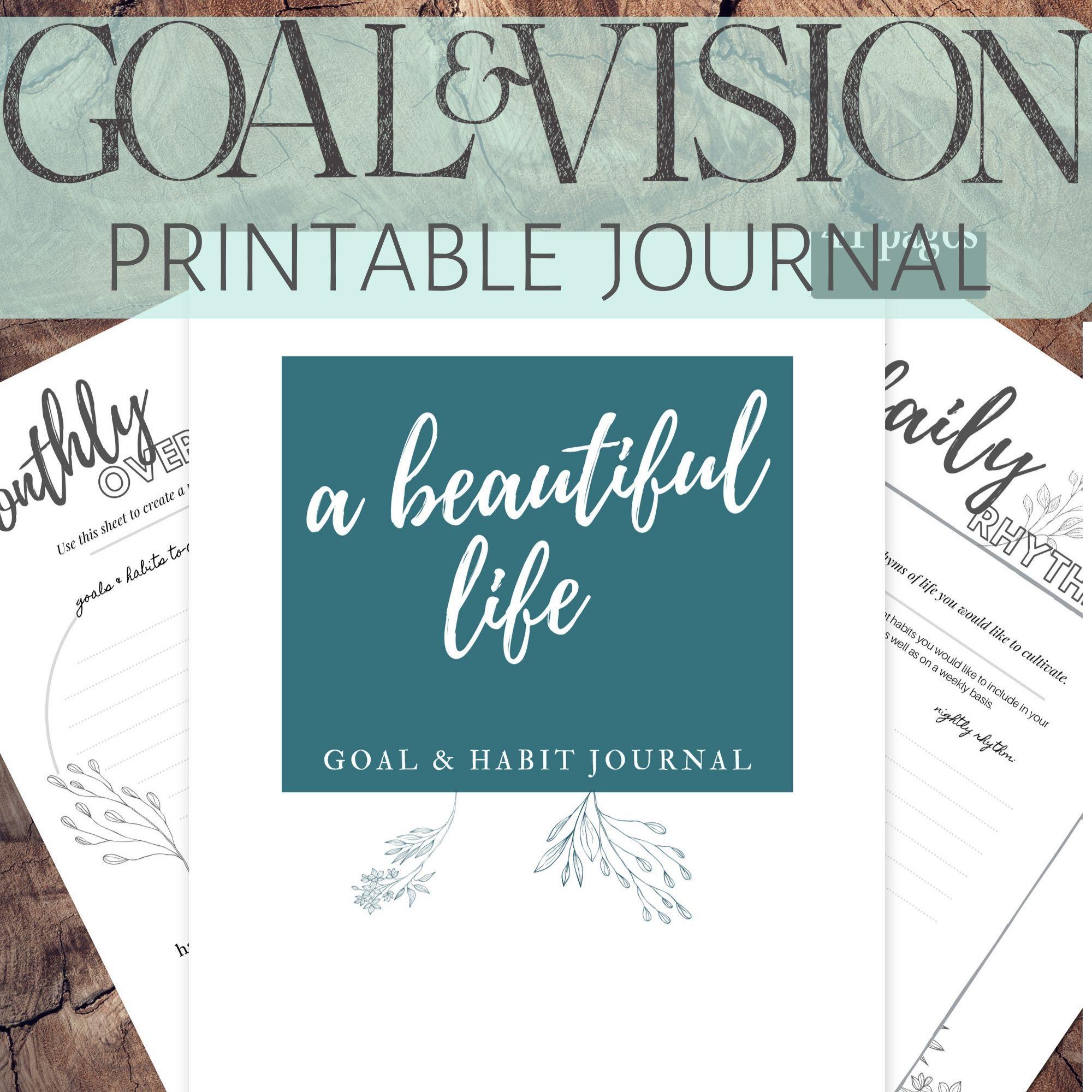 Goal Planner Life Planner Goal Printable Printable