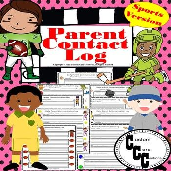 Photo of Daily Parent Communication Log (Sports Version)