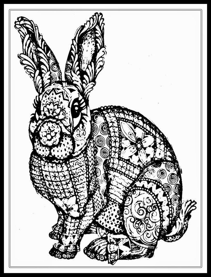 Stunning Adult Coloring Pages To Print Rabbit For Pict Of Domestic Animals Trend And Popular With Images Bunny Coloring Pages Animal Coloring Books Rabbit Colors [ 1074 x 818 Pixel ]