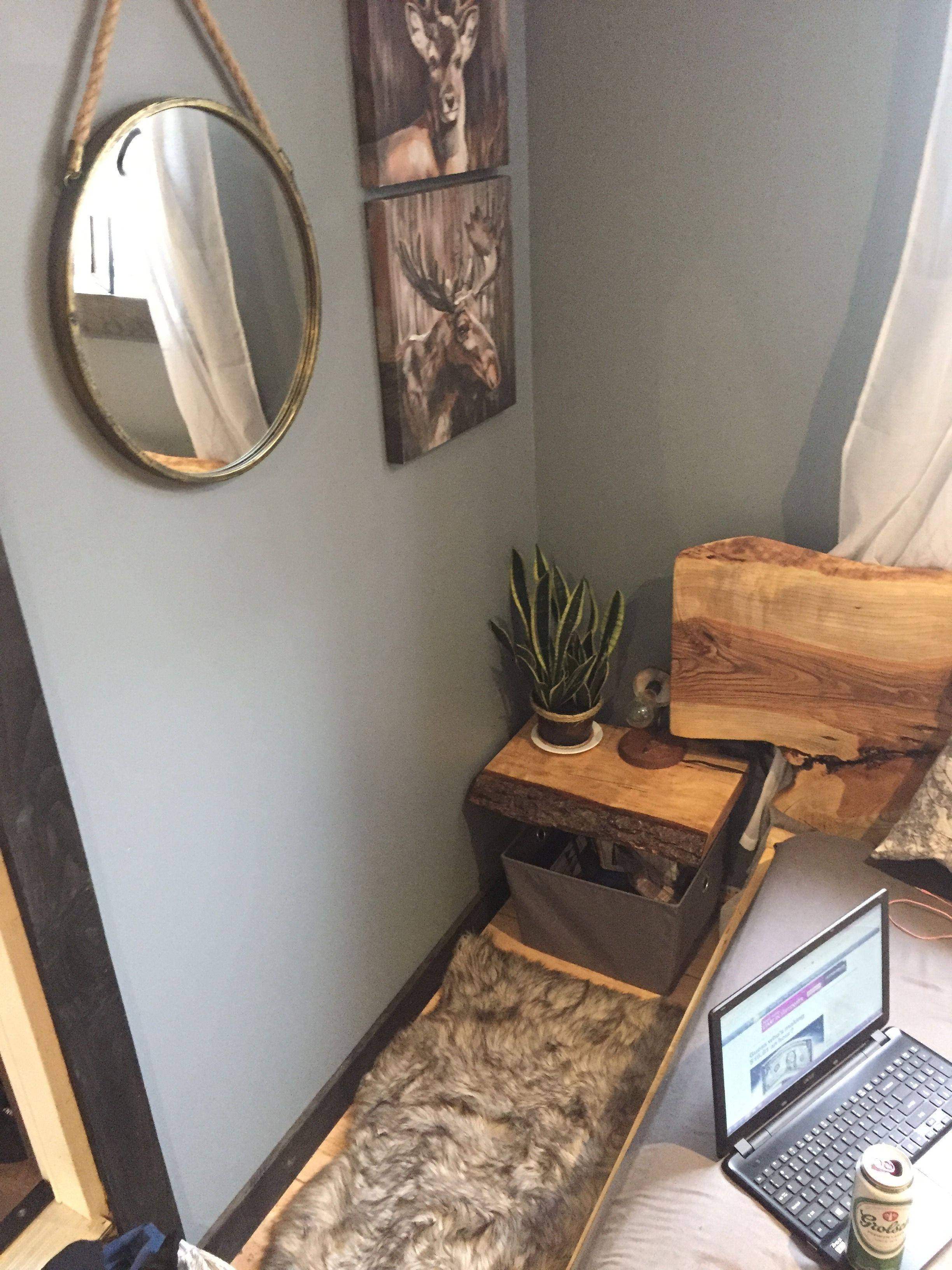 Dreamt rustic and feminine bedroom decor live edge wood bed frame