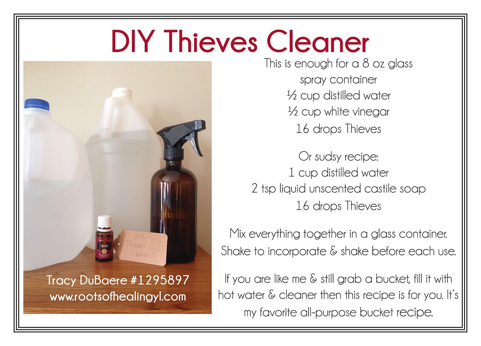 Diy thieves cleaner essential oil cleaner essential