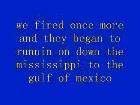 Battle Of New Orleans Lyrics Johnny Horton Youtube Battle Of
