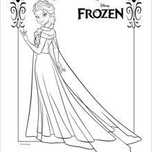 Dibujo Para Colorear Elsa La Reina De Las Nieves Princesas