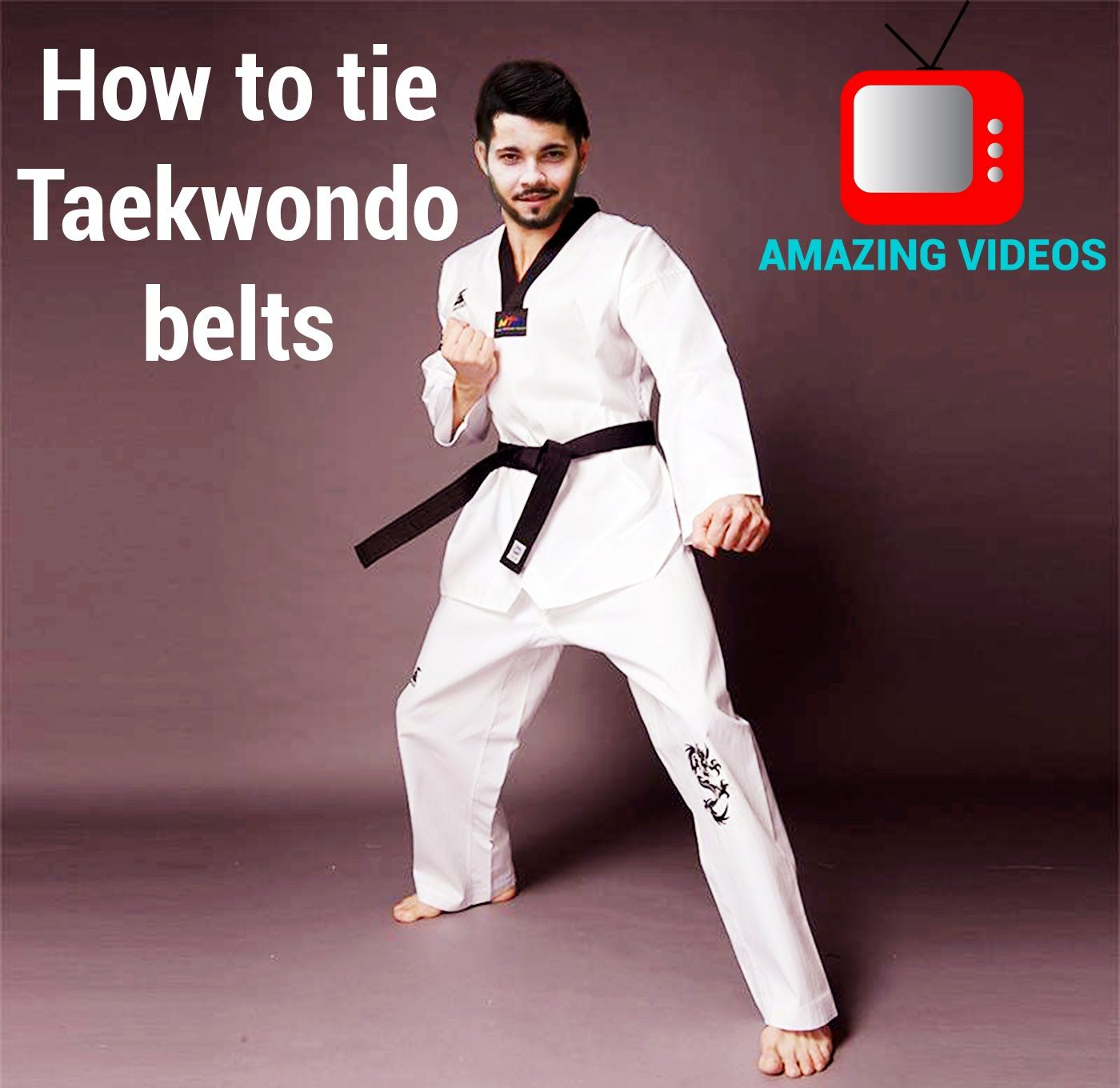 Taekwondo - How to tie Taekwondo belts - Taekwondo Olympics rio 2016 simple Step-by-step tutorial