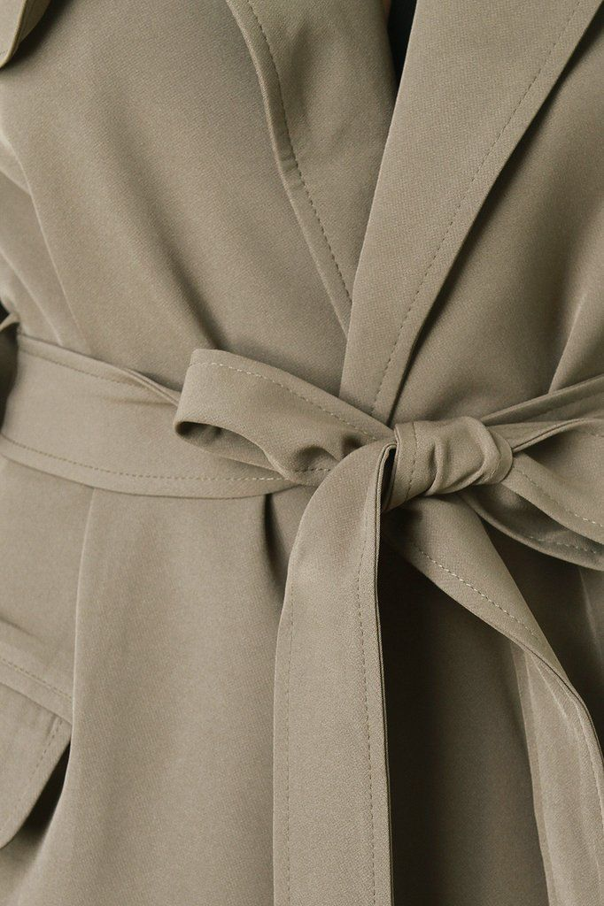 Side Vent Trench Coat Jacket