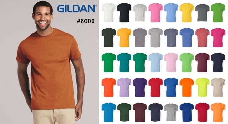 Gildan 8000 Ultra Blend T Shirt from NYFifth