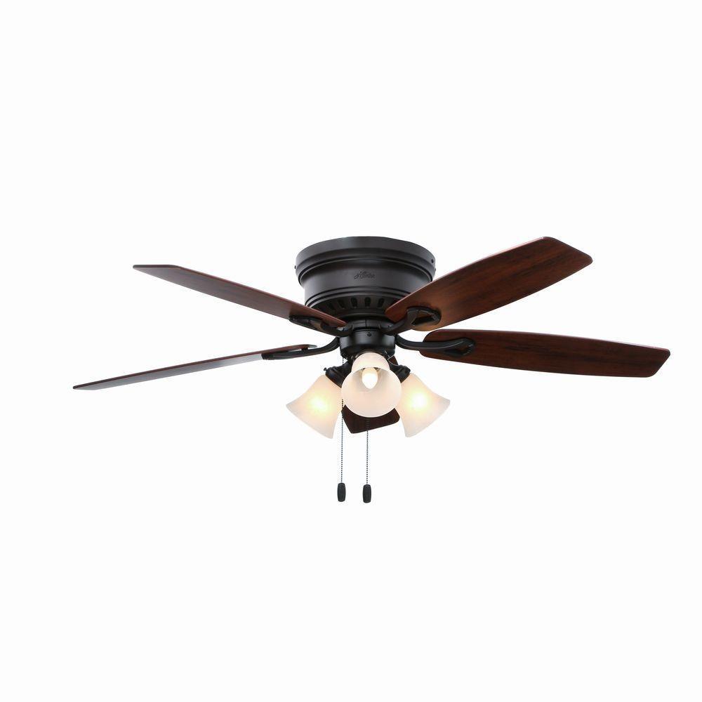 Hunter Oakhurst 52 In New Bronze Indoor Ceiling Fan With