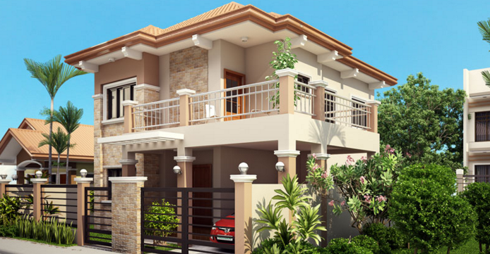 Did You Ever Wanted To Have A House But Your Lot Have Some Restrictions On  What Design Can Be Constructed? Well, Evelyn Model Is A Two Story House  Plan With