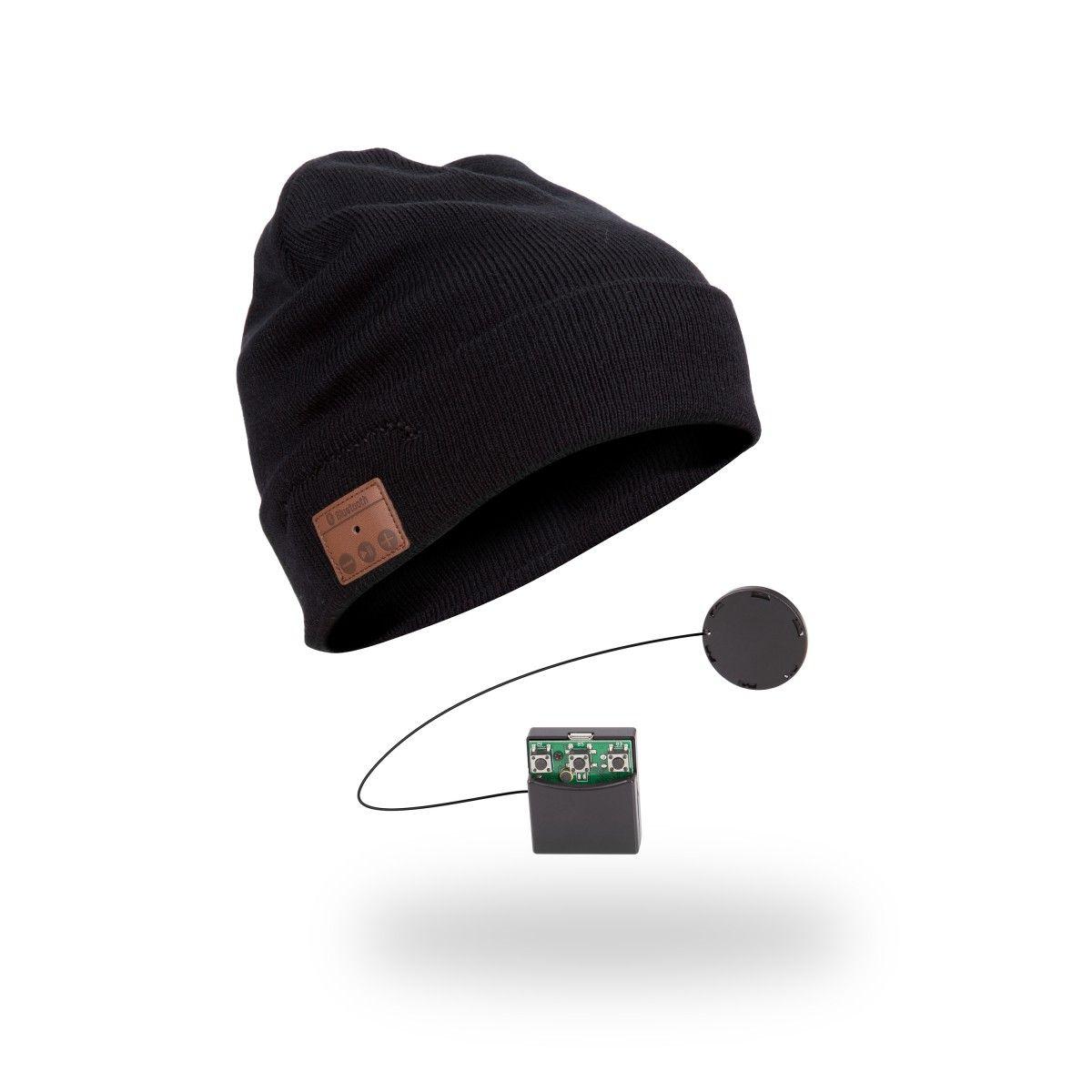 Bluetooth Beanie Mütze Musik Strickmütze mit Stereo Kopfhörer Strickmütze