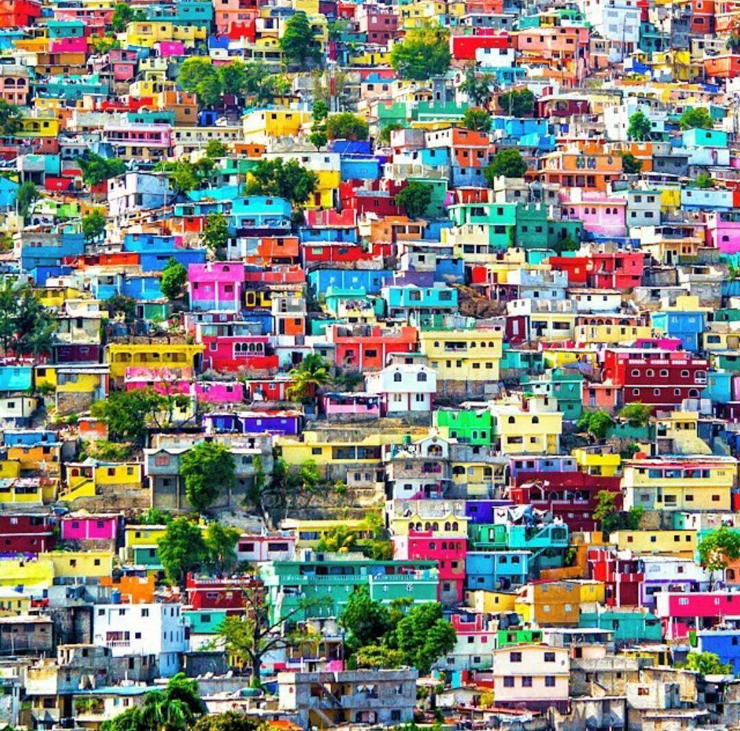 Colorful Jalouzi, one of the largest slums in Haiti.   Beautiful photos of  nature, Colorful city, Nature photos