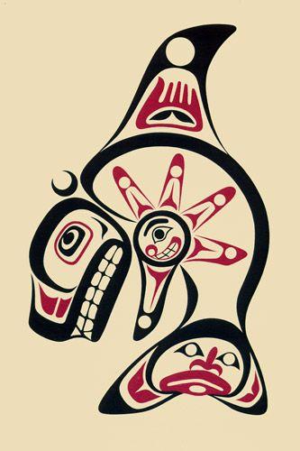 Haida Whale Art   Haida Orca