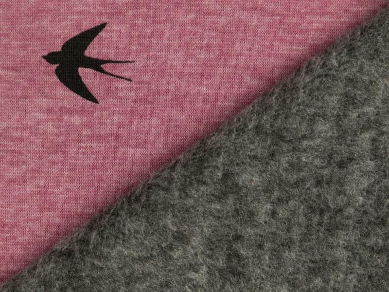 Alpenfleece Swafing Eiger Schwalben Meliert Altrosa Mit Bildern Altrosa Rosa Muster Rosa