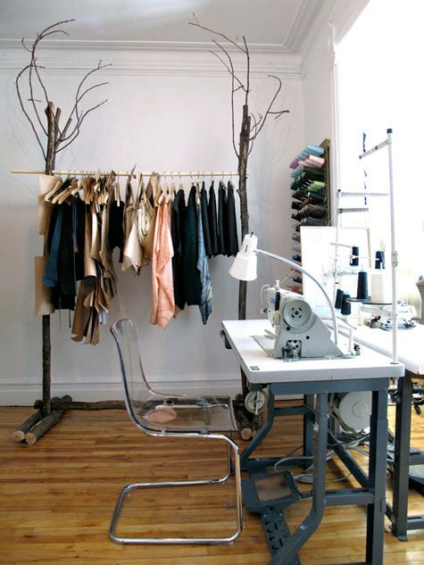 Workspace Fashion Designer Studio Garment Racks Clothing Rack