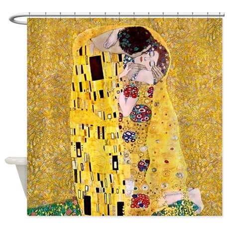 Klimt The Kiss Lovers Shower Curtain On Cafepress Com Shower