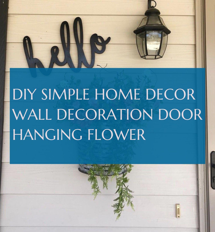 diy simple home decor wall decoration door hanging flower