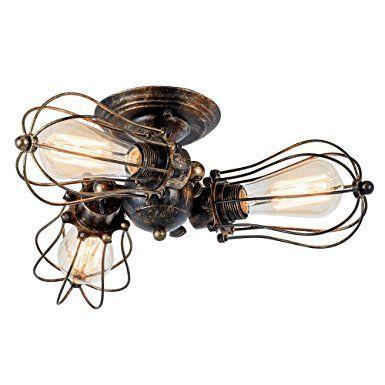 Deckenleuchte Vintage Verstellbar Metall Lampen Rustikal - lampen fürs wohnzimmer