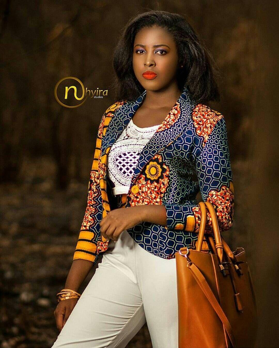 527d875c7e6cad  TGIF Just a perfect blazer for an African Queen Beautiful shot by   nhyira studios Model -  Albby bertha MUA - NhyiraMakeOver  nhyirastudios… »