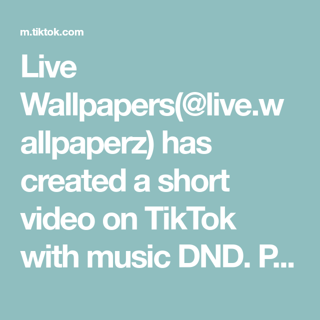 Live Wallpapers Live Wallpaperz Has Created A Short Video On Tiktok With Music Dnd Polo G Live Wallpaper Share Live Wallpapers Live Photo All Eyez On Me