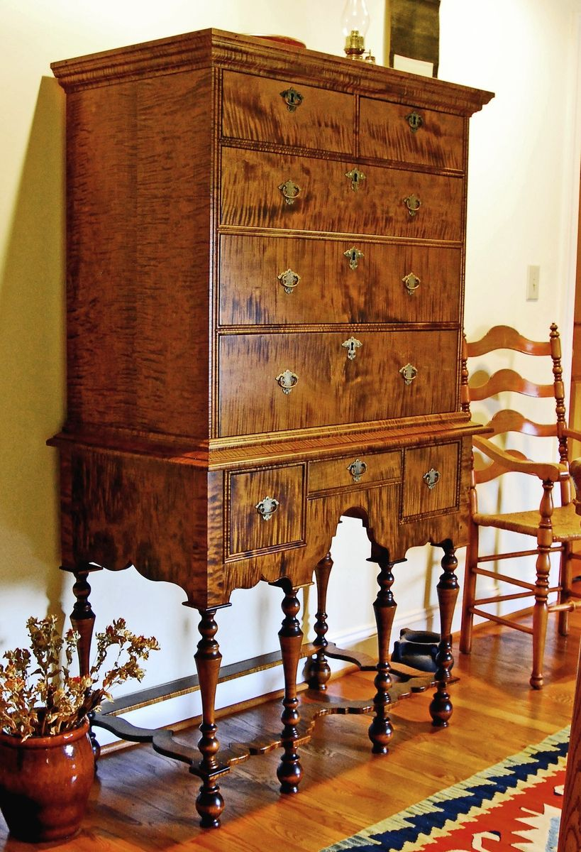 William And Mary Highboy Early American Furniture