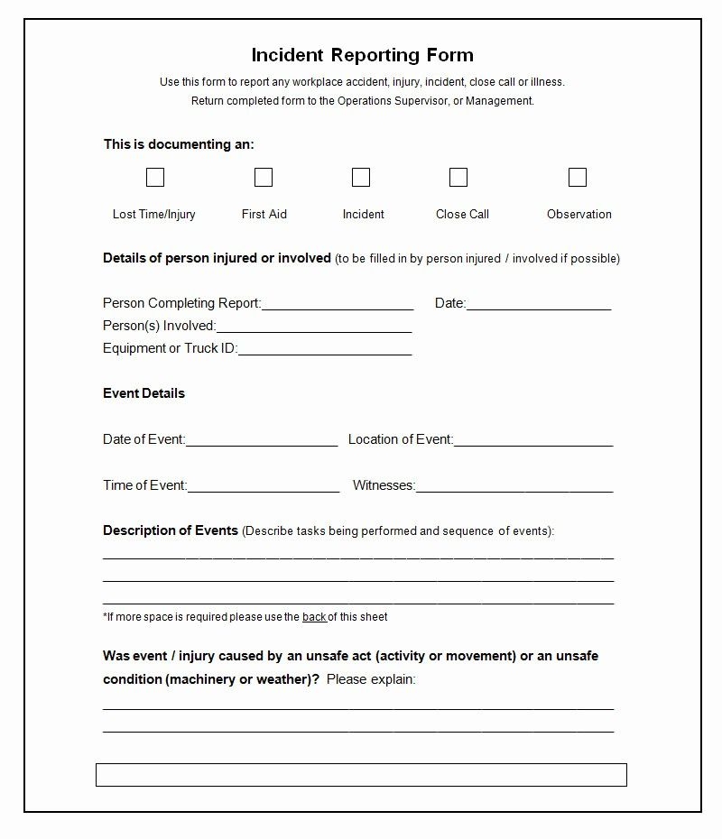Incident Report Form Template Word Unique 37 Incident Report Templates Pdf Doc Pages Incident Report Form Incident Report Report Template