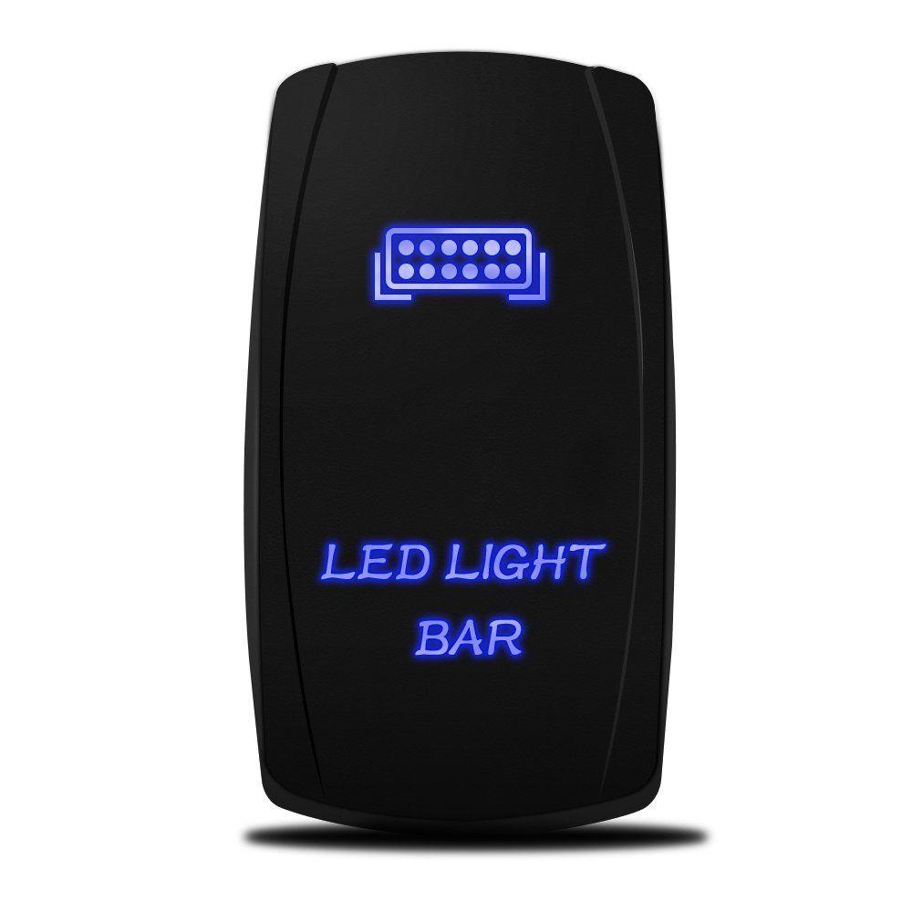 Amazon Com Mictuning Off Road Atv Jeep Led Light Bar Wiring Harness 40 Amp Relay On Off Rocker Switch Jeeps Led Light Bars Jeep Led Light Bar Led Lights