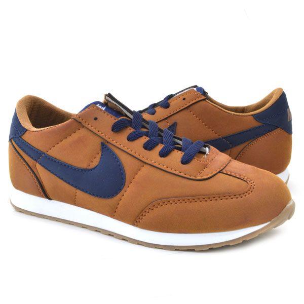 Nike Cortez 5555 Napa Taba Lacivert Bayan Ayakkabi Spor Nike Cortez Nike Nike Kadin