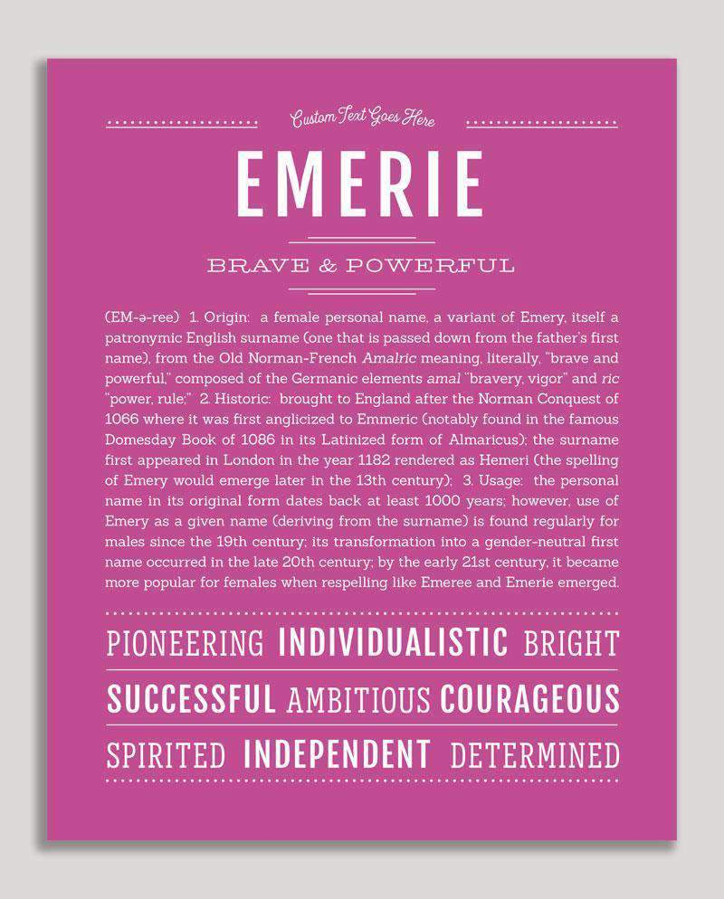 Emerie | Classic Name Print | Classic names, Personalized ...