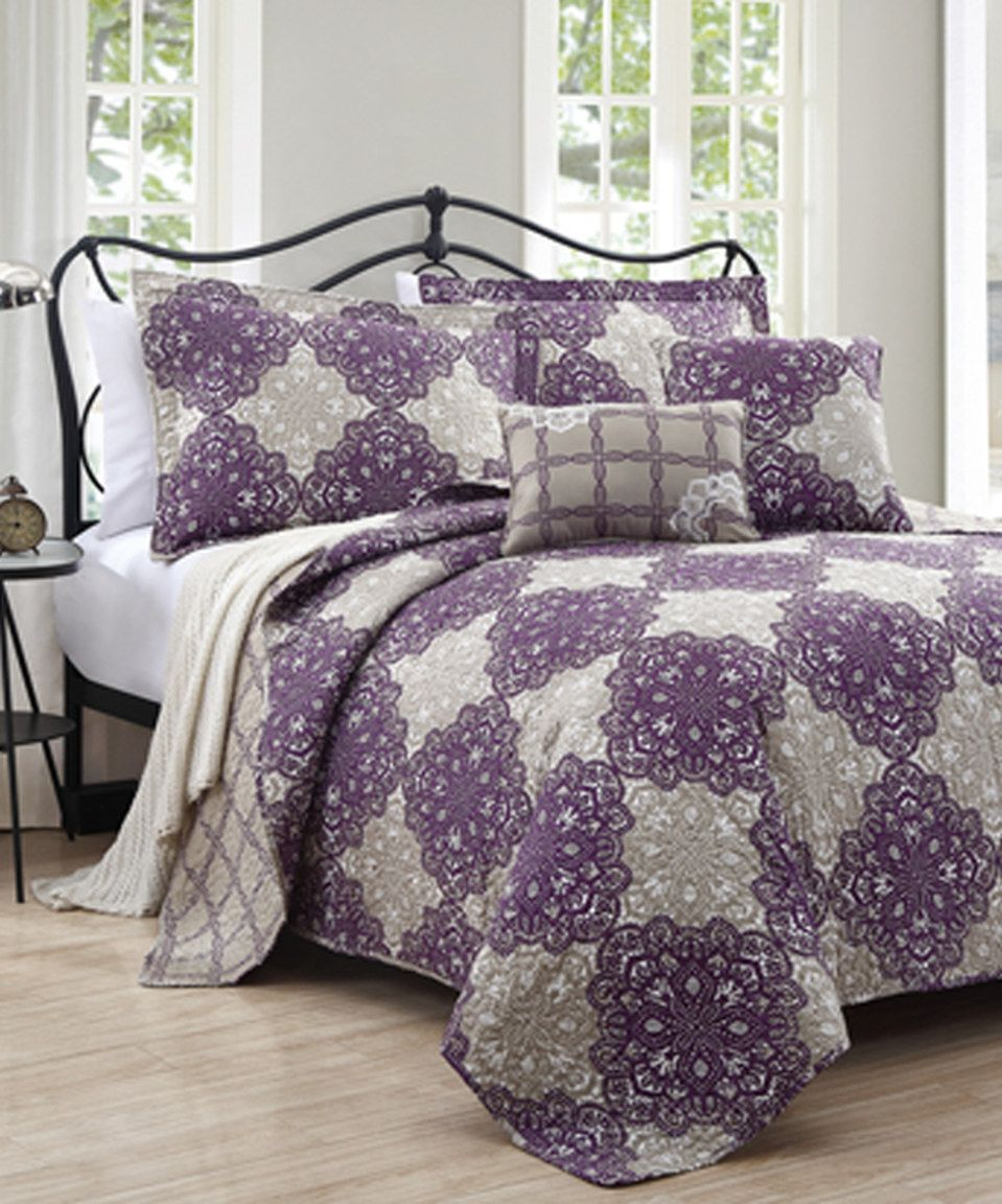 Love This Purple U0026 Taupe Persia Quilt Set By S.L. Home Fashions On #zulily!